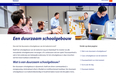 Rabobank: Een duurzaam schoolgebouw