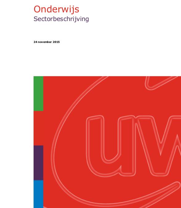 UWV: Sectorbeschrijving Onderwijs